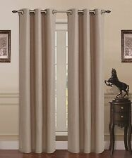 Union Square Room Darkening Grommet Window Panel Curtain Heavy Linen - Beige