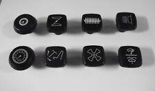 (x8) TRIUMPH TR5 TR6     Dashboard Dash Knobs Set   (1967- 71 Only)