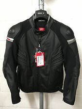 Ducati Dainese Dark Armour Black Leather Jacket Size 48 *New