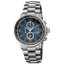 NEW CITIZEN ECO-DRIVE WATCH for MEN * Chronograph Blue Dial Titanium CA0500-51L