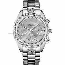 New Caravelle New York 43L171 Chronograph Stainless Ladies Watch in Original Box