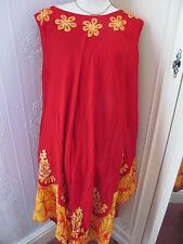 didi red yellow  cotton beach/cover/sundress  freesize