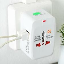 Travel Power 2 USB Charger Universal Adapter AU/UK/US/EU All inOne International