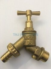 """Outdoor Garden bib Tap 1/2"""" BSPM inlet with double check valve, hose union"""