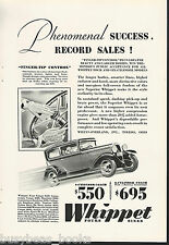 1929 Willys Overland advertisement, WILLYS Whippet Coupe