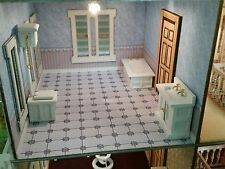 Dollhouse 1:24 (1/2in) scale BATHROOM SET/3pcs/WHT