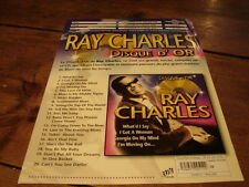 RAY CHARLES DISQUE D'OR!!!!!!!!!!!RARE FRENCH PRESS/KIT