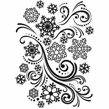 Pochoir d'embossage FLOCONS DE NEIGE TOURBILLON scrapbooking, cuttlebug, sizzix