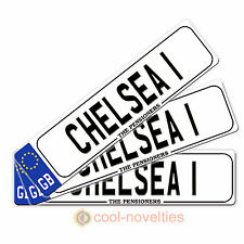 "MINI NOVELTY NUMBER PLATE / BOOKMARK GIFT "" CHELSEA 1"" PERFECT FOR FOOTBALL FANS"