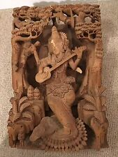 Hindu God Wood Hand Carved Carving Statue