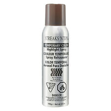 Streaks 'N Tips TEMPORARY HIGHLIGHT HAIR COLOR SPRAY - BURNT BROWN  3.5oz