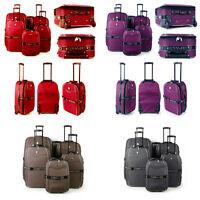 Extra Large Medium Small Cabin Travel Trolley Luggage Suitcase Bag Case Light