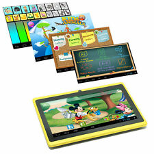 "7"" Google Android 4.4 Tablet PC MID for Kids Children 1GHz Dual Camera Yellow"