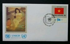 United Nation Flag Vietnam 1980 Unicef Children Mother Women (stamp FDC)