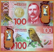 New Zealand, $100, 2016, Polymer, P-New, Redesigned, Unc
