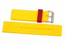 24MM YELLOW RED RUBBER WATERPROOF SPORT DIVER WATCH BAND STRAP FITS NIXON