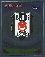 PANINI UEFA CHAMPIONS LEAGUE 2007-08- #077-BESIKTAS TEAM BADGE-SILVER FOIL