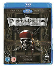 Pirates of the Caribbean Collection NEW Blu-Ray 4-Disc Set Depp Bloom Knightley