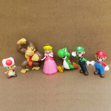 "6pcs Set Mini Super Mario Bros 1.5~2.5"" Action Figures Doll Toy Gifts Excellent"