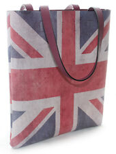 Womens Ladies UK Union Jack Travel Beach Shopping Tote Bag with Inner Pouch