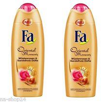 2x 250 ml Fa Oriental Moments Wüstenrosen & Sandalwood Scents Shower cream