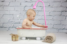 Baby Girl's Bathtub baby photography  vintage prop bath tub Smoller newborn LAST