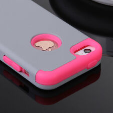 For Apple iPhone SE 5S 5 Shockproof Hybrid Rubber Hard Protective Case Cover