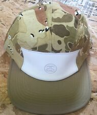 Stussy Deluxe Patch Camo Camp Hat Tan NWT 5 Panel