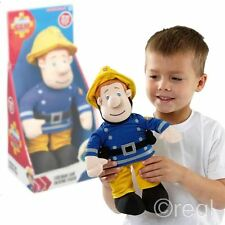 "New Fireman Sam 12"" Talking Plush Toy w/ Theme Tune & Phrases Official"
