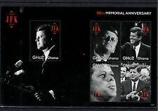 Ghana 2013 MNH John F Kennedy 50th Memorial Anniversary 5v M/S JFK US President