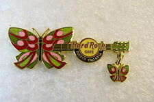 PUERTO VALLARTA,Hard Rock Cafe Pin,BUTTERFLY With Dangle