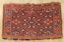 ca.1900  WONDERFUL OLD ANTIQUE TURKMAN ERSARI SUMAK BAG 1.6X2.6 ft
