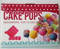 12er Cake Pop Backform Silikon Cakepop Ständer Kuchenlollie Form Maker Kugel