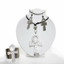 Silver Ankh Full Jewelry Set... 'A Symbol of Fertility and New Life'