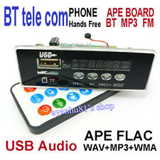 LCD Bluetooth Audio Receiver 5V-12V APE FLAC WMA MP3 Player Handsfree FM AUX USB