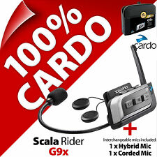 New Cardo Scala Rider G9x (Single) Bluetooth Motorcycle Helmet Intercom Headset