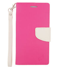 For LG G Stylo Premium Leather 2 Tone Wallet Pouch Flip Case Cover Accessory