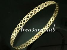 UNIQUE Genuine 9ct SOLID YELLOW GOLD  KELTIC Celtic Bangle 63mm