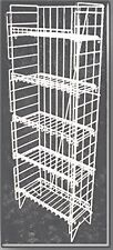 5 Shelf Potato Chip Popcorn Snack Food Floor Display White Rack