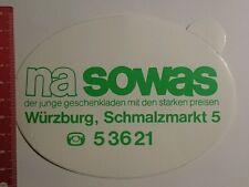 Aufkleber/Sticker: na sowas Würzburg der junge Geschenkladen (24081675)