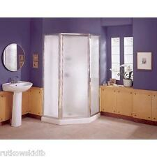 Sterling 38-Inch White Neo Angled-Corner Shower Enclosure Kit