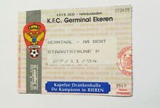 used ticket GERMINAL EKEREN - AA GENT 27.11.1994