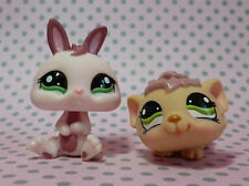 Littlest Pet Shop LPS #1397 #1466 Bunny Coniglio Nano & Fluffy Cavia