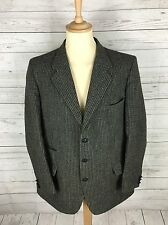 Mens Dunn & Co Harris Tweed Jacket/Blazer - 44L - Navy - Great Condition