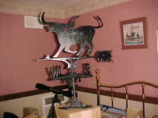 "(1)Cast Alum Weathervane  20"" roof mtd. with Texas Longhorn Steer"
