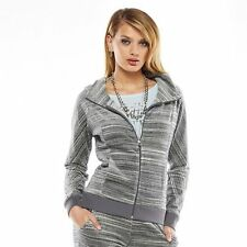 Juicy Couture Space Dyed  Gray Tracksuit Jogger Hoodie Jacket Size XL