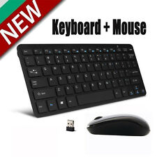Mini 2.4G DPI Wireless Keyboard and Optical Mouse Combo Black for Desktop PC OU