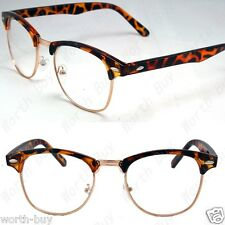 New Retro Fashion Nerd Clear Lenses Frame Glasses Mens Womens Designer Cat Eye