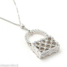 signed Swarovski~ crystal lattice Handbag ~ NECKLACE pendant~New ~retired ~$85