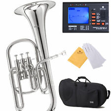 NEW BAND Eb NICKEL ALTO HORN w/ Stainless Steel Valve